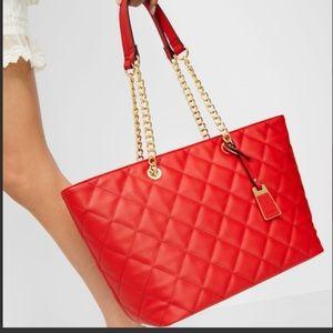 Aldo red tote purse